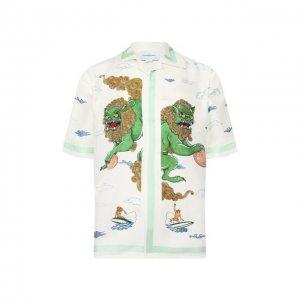 Шелковая рубашка Casablanca. Цвет: белый