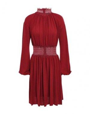 Короткое платье GIAMBATTISTA VALLI. Цвет: красно-коричневый