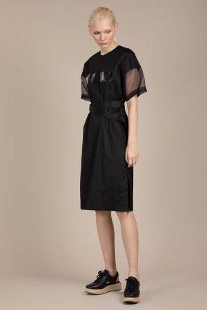 Платье в спортивном стиле VASSA&Co. Цвет: черный