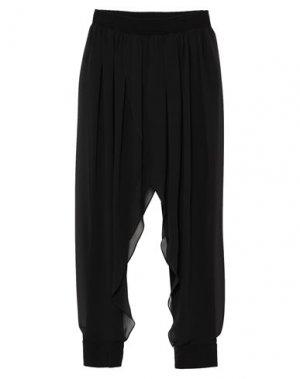 Повседневные брюки GAI MATTIOLO. Цвет: черный