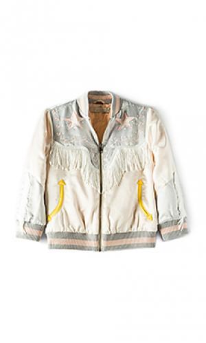 Куртка-бомбер в горошек с вышивкой Stella McCartney. Цвет: ivory