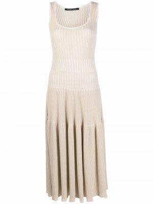 Трикотажное платье миди Antonino Valenti. Цвет: нейтральные цвета