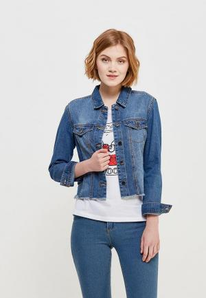 Куртка джинсовая Jacqueline de Yong JA908EWZNX48. Цвет: голубой