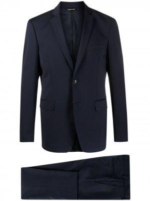 Костюм с однобортным пиджаком Tonello. Цвет: синий