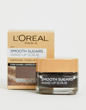 Скраб для лица и губ LOreal Paris Smooth Sugar Wake-Up Coffee L'Oreal