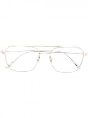 Очки-авиаторы Tom Ford Eyewear. Цвет: золотистый