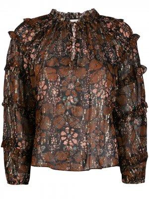Блузка с цветочным принтом Ulla Johnson. Цвет: коричневый
