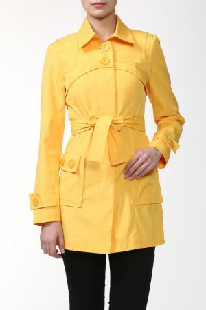 Пальто Алиса. Цвет: желтый