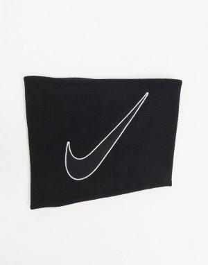 Черный флисовый шарф-труба 2.0 -Черный цвет Nike