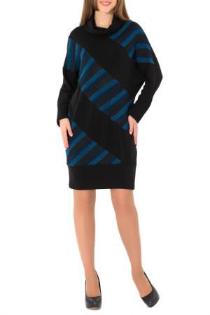 Платье S&A style. Цвет: черно-синий