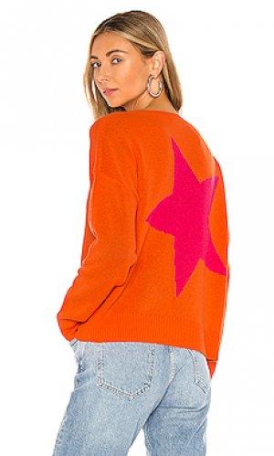 Отличный свитер levi 360CASHMERE. Цвет: оранжевый
