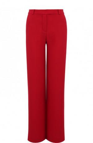 Однотонные расклешенные брюки из шелка Loro Piana. Цвет: красный