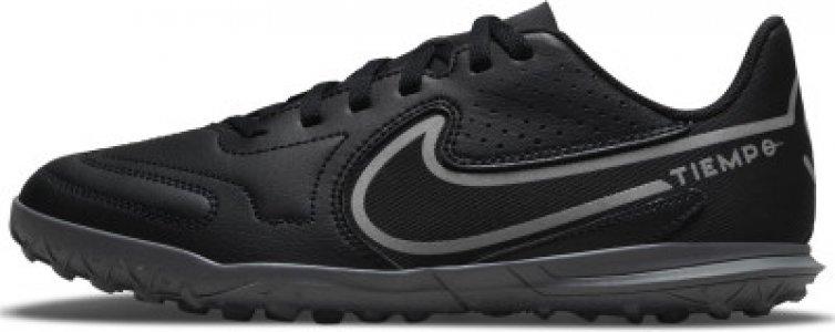 Бутсы для мальчиков Tiempo Legend 9 Club Tf, размер 31 Nike. Цвет: черный