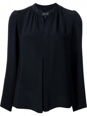Рубашка с воротником-стойкой Derek Lam. Цвет: черный