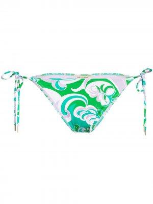 Albizia-print bikini bottoms Emilio Pucci. Цвет: зеленый