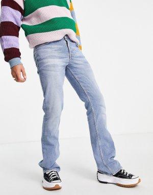 Голубые расклешенные джинсы -Голубой ASOS DESIGN