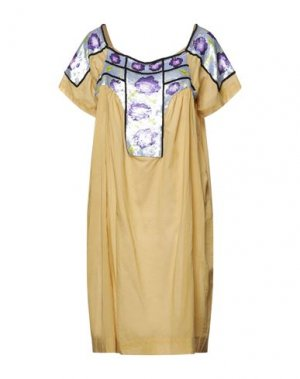 Платье до колена ANTIK BATIK. Цвет: охра