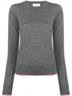 Кашемировый пуловер RWB с кантом Thom Browne