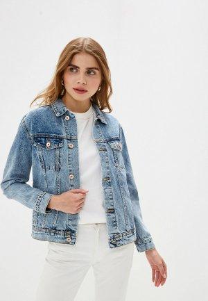 Куртка джинсовая Colins Colin's. Цвет: синий