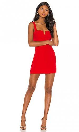 Платье nia Amanda Uprichard. Цвет: красный