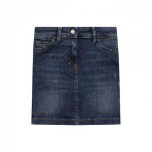 Джинсовая юбка Dolce & Gabbana. Цвет: синий