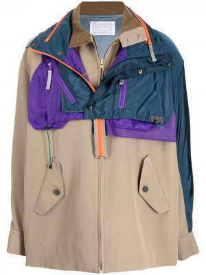 Куртка-рубашка с накладными карманами Kolor. Цвет: синий