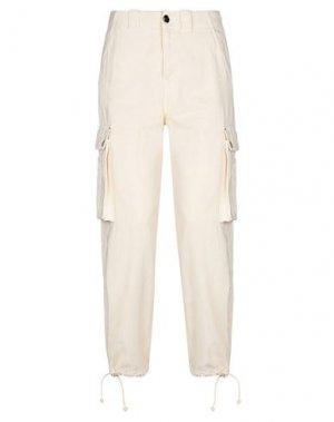 Джинсовые брюки SEMICOUTURE. Цвет: слоновая кость