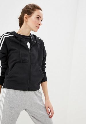 Толстовка adidas W MH 3S FZ HD. Цвет: черный