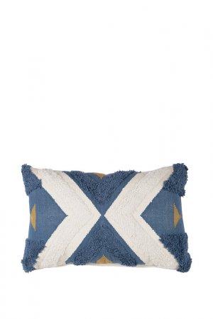 Подушка декоративная, 40х60 Tkano. Цвет: синий, белый, желтый