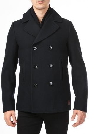 Пальто и жилетка Scotch&Soda. Цвет: синий