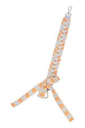 Плетеный ремень с бантом для сумки Fendi. Цвет: multicolor