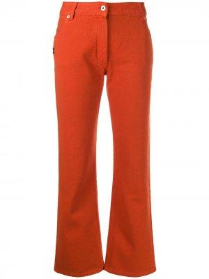 Укороченные джинсы с логотипом Off-White. Цвет: оранжевый