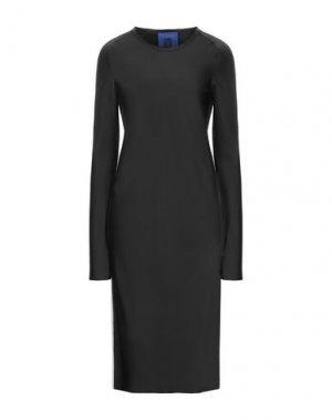 Платье миди ROQUE ILARIA NISTRI. Цвет: черный