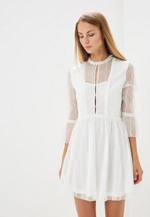 Платье Soky & Soka. Цвет: белый