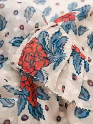 Блузка с длинными рукавами и цветочным принтом Ulla Johnson. Цвет: нейтральные цвета