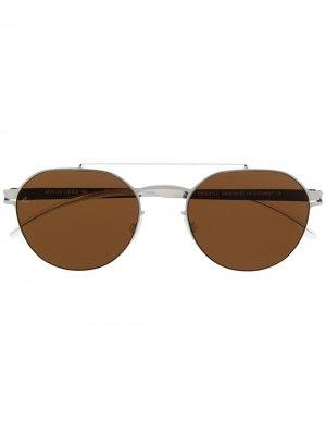 Солнцезащитные очки Leica в круглой оправе Mykita. Цвет: серый