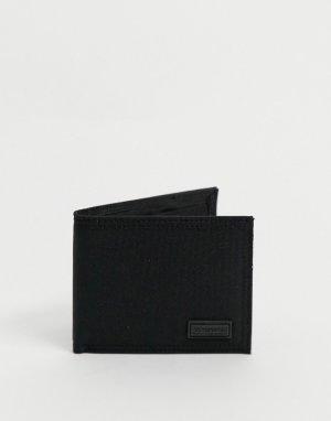 Бумажник двойного сложения -Черный цвет Consigned