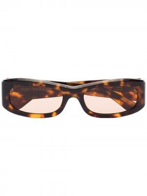 Солнцезащитные очки Saudade в оправе черепаховой расцветки Port Tanger. Цвет: коричневый