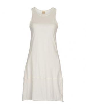 Короткое платье BIONEUMA NATURAL FASHION. Цвет: белый