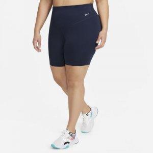 Женские велошорты со средней посадкой Nike One 18 см (большие размеры) - Синий