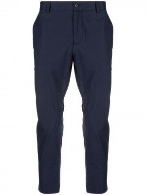 Укороченные брюки чинос прямого кроя Daniele Alessandrini. Цвет: синий
