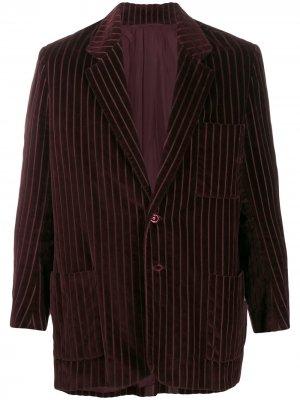 Фактурный полосатый пиджак 1990-х годов A.N.G.E.L.O. Vintage Cult. Цвет: красный