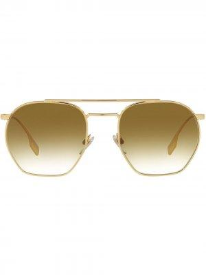 Солнцезащитные очки-авиаторы Ramsey Burberry Eyewear. Цвет: золотистый