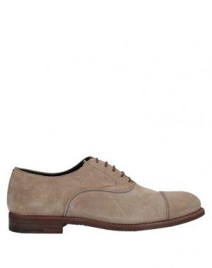 Обувь на шнурках ALBERTO FASCIANI. Цвет: бежевый