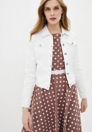 Куртка джинсовая Softy. Цвет: белый