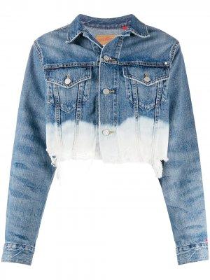 Укороченная джинсовая куртка Denimist. Цвет: синий