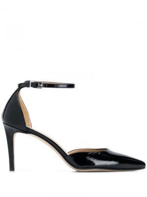 Лакированные туфли-лодочки с заостренным носком Antonio Barbato. Цвет: черный