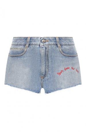 Джинсовые шорты Stella McCartney. Цвет: синий