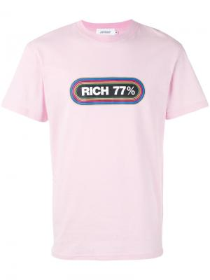 Футболка Rich 77% Joyrich. Цвет: розовый и фиолетовый