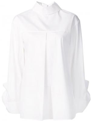 Поплиновая блузка с застежкой на спине Edun. Цвет: белый